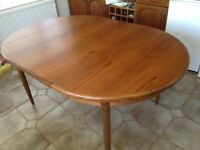 Gorgeous G Plan family dining table and chairs, excellent condition
