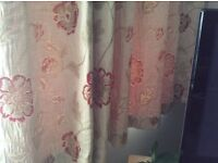 Heavy lined curtains.