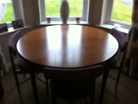 G Plan Fresco Dining Table with 4 Chairs