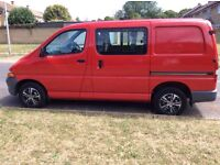 Toyota hiace I've owned for six years . New van forces reluctant sale!.