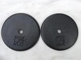 2 x 7.5kg Standard v2 Cast Iron Weights