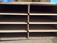 Desktop sorter for holding paper and cardboard