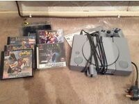 PS1 - Play Station one console, with controllers and games