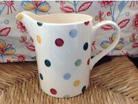 Emma Bridgewater large 2pint/1 litre collectable polka dot measuring jug (1st quality) NEW & unused