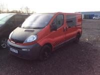 Vauxhall the viral 2003 53 plate crew van five seater side windows new clutch bargain
