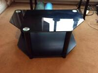 Black Glass tv table / stand
