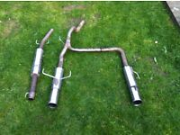 Twin exit Stainless exhaust