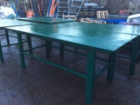 Steel work benches