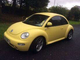 Yellow 2.0l Petrol VW Beetle MOT March '19