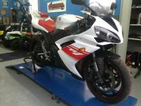 2008 Yamaha R1 White and Red