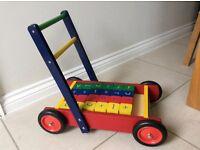 John Crane Baby Walker Toy including building blocks
