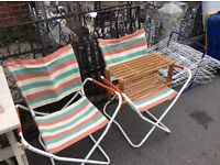 Retro beach, garden chairs