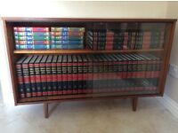 Bookcase with encyclopaedia etc