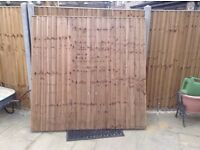 Wooden Fence Panel 6ftx6ft.