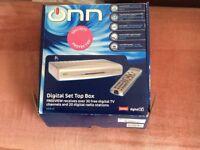 Brand new Onn digital set top box