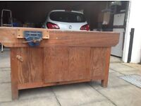 Vintage school wooden woodworking bench- perfect for your man cave! Will consider sensible offers