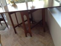 Gate leg table and 4 chairs