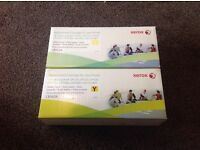 Xerox CB542A ink cartridges set of two yellow