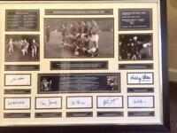 Manchester United signed montage from European Cup Winners of 1968