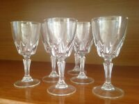 6 dainty liqueur / sherry glasses