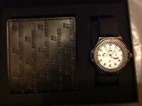 Men's Hublot F1 watch & wallet gift set