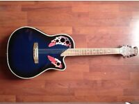 Coban Electro Acoustic 4eq Round back Royal Blue - With Bag + Lead!