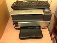 Scanner printer and keyboard Working with manual and cd £19.99