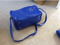 Blue handbag and shoes