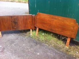 Pair of 1920s Art Deco double bed headboards, 2 yrs now trying to sell these, bonfire is looming