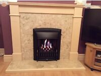 Fire surround and marble