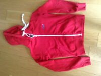 Men's Superdry Fleece - Red with white piping size S