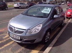 Vauxhall/Opel Corsa 1.2ltr ,,, 69,000 miles 12 months mot