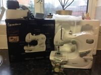Child's electric sewing machine works like adult