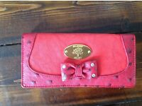 Red Mulberry Logo red dimontee Purse