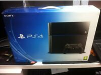 PLAYSTATION 4 500GB IN BOX + 2 GAMES BARGAIN PRICE-SO BE QIUCK