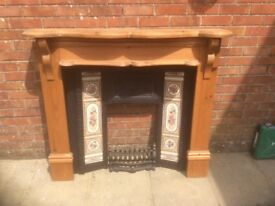 Cast iron surround & mantlepiece