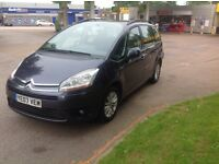 2007,07 Citroen c4 grand Picasso 7 seater long mot 1.6 hdi