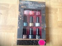 SEVENTEEN NAIL COLLECTION. 9 X NAIL COLOUR. Brand new in box.