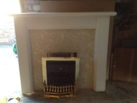 Gas fire and surroud
