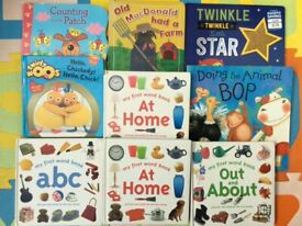 Kids books x9 items for early learning