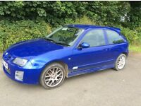 MG ZR for sale. 2005, only 28,000 miles, blue