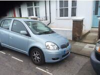 2004 Blue Toyota Yaris MOT Due Jan 2017