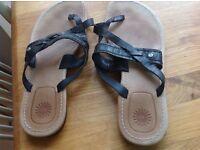 Ugg black flat shoes size 39
