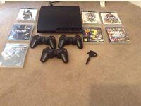 PlayStation 3 + 7 games + 3 remotes + Bluetooth ear piece