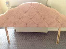 Double bed headboard , dusky pink