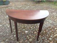 Mahogany table.