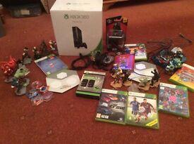 Xbox 360, 500gb + games