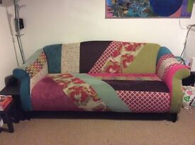 Beautiful 'Shout' patchwork sofa, like new.