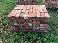 Reclaimed bricks all clean and on pallets approx 3200 .price per brick £1.00
