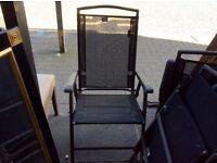 Set of folding garden chairs